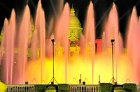 Magic Fountain of Montjuïc, Font Mágica de Montjuic, constructed for the 1929 Barcelona International Exposition, designed by Carles Buigas. The Four ...
