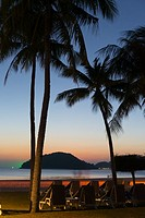 Colorful sunset on Cenang beach, Langkawi, Malaysia.
