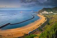 Las Teresitas, Beach, San Andres, Tenerife, Canary Islands, Spain.