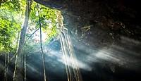 Caverna Xaman, San Juan de Dios, Cobá. Quintana Roo, México.
