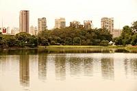 The Ibirapuera Park (Parque do Ibirapuera) in Sao Paulo, Brazil, south america.