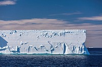 Antarctica, Antarctic Peninsula, Blue sky over  iceberg