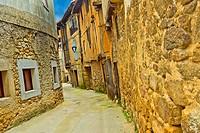 Traditional Architecture, Medieval Town, Historic Artistic Grouping, San Martín del Castañar, Salamanca, Castilla y León, Spain, Europe.