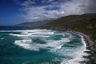Waves pound upon the shoreline along California´s Pacific Ocean Coastline at Sand Dollar Beach near Big Sur.