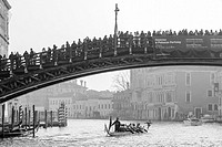 Canal Grande or Gran Canal Carnival parade on January 24, 2016 in Venice, Italy.