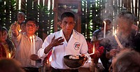 Chahal, Alta Verapaz, Guatemala, a maya priest gives a ceremony to pray for a good harvest.
