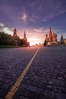 Red Square sunset.
