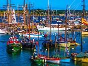 Port of Rosmeur, Douarnenez, Finistere, Brittany, France