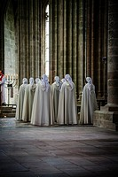 Inside the Abbey of Mont Saint Michel, France.