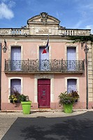 A typical French town hall in southern France, Aumes, France