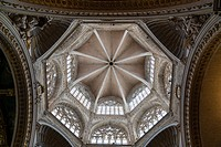 Gothic dome of the cathedral, Valencia, Spain.