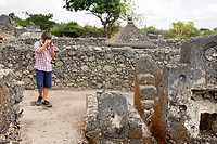 Ruins of the tombs of the city of Bagamoyo. Tanzania.