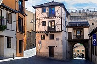 The Jewish Quarter and San Andres Gate in the city of Segovia, Spain.