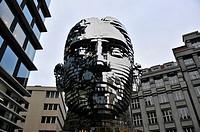 statue of Kafka Prague