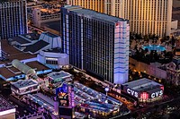Aerial view of Bally's Hotel the Strip, Las Vegas, Nevada, USA.