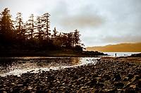 Magic Island at Halibut Point Recreation Area near Sitka, Alaska, USA.