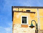 Detail of the Old brewery in the old town of Faro - Algarve region, Portugal