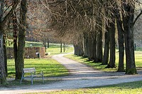 Botanica Park Recreational Area in Early Spring, Bad Schallerbach, Austria