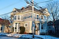 Example of home architecture in Lunenburg, Nova Scotia, Canada.