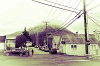 Neighborhood near downtown Sitka, Alaska, USA.