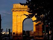 """France, Nouvelle Aquitaine-Gironde- """"""""Porte de Bourgogne"""""""" gate, at Bordeaux."""