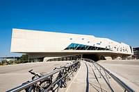Exterior view of Phaeno Science Centre in Wolfsburg , Germany, Architect Zaha Hadid.