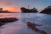 Shipwreck Temple Hall, Arrecife, Lanzarote, Canary Islands, Spain.