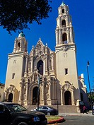 San Francisco, CA, USA, Street Scenes, Mission Delores Church, Front of Building