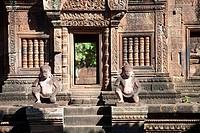 Banteay Srei Temple in Siem Reap, Cambodia.