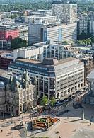 Aerial photograph of Birmingham City Centre, England. Victoria Square.