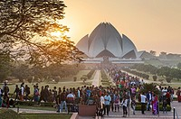 Lotus Temple of the Bahai faith, New Delhi, India.