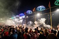 India, Varanasi, local festival.