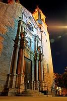 Church of Sant Feliu, Celrà, Girona, Catalonia, Spain