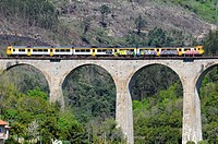 The train from Porto to Pinhao, Douro valley, Portugal.