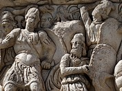 Detail from the Arch of Galerius in Thessaloniki, Greece.