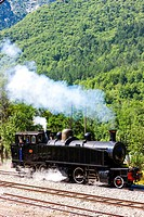 steam locomotive, Villars-sur-Var, Provence, France.