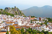 Town Gaucin with mountain scenery, province of Málaga, Andalusia, Spain.