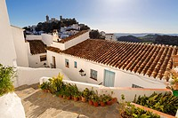 White village of Casares, Malaga province Costa del Sol. Andalusia Southern Spain, Europe.