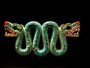 Stone Rattlesnake (crotalus durissus). Aztec, AD 1300-1521