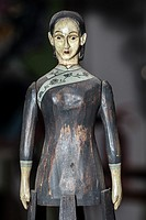 adult female wooden articulated doll