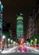 Torre Iberdrola en Bilbao. Vizcaya. Pais Vasco. España. Europa.