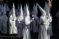 Good Friday procession in San Lorenzo de El Escorial, Madrid. Spain.