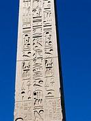 Close-up of the Flaminio Obelisk (Italian: Obelisco Flaminio) located in Piazza del Popolo, Rome, Italy, Europe.