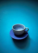 Cup and saucer blue.