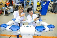 Researchers working on robot, Industry, Research and Technology Center, Tecnalia Research & Innovation, Donostia, Basque Country, Spain, Europe