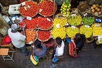 Produce at Central Market, Port Luis, Mauritius, Africa.