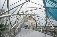 Walkway near Singapore's ArtScience Museum.