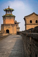 Watch Tower of the ancient City Walls, Pingyao, Shanxi province, China.