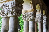 Cloister of the Santa Juliana collegiate church, Santillana del Mar, Cantabria, Spain, Europe