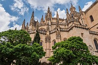 Cathedral of Segovia or called correctly in Spanish ´´Saint Iglesia Catedral of Our Lady of the Asunción and of San Frutos´´, placed in the main squar...